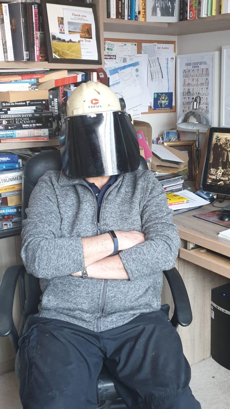 Colin's helmet