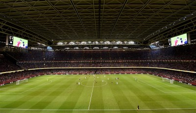 03.08.19 - Manchester United v AC Milan -International Champions Cup -A general view of Principality Stadium during play.