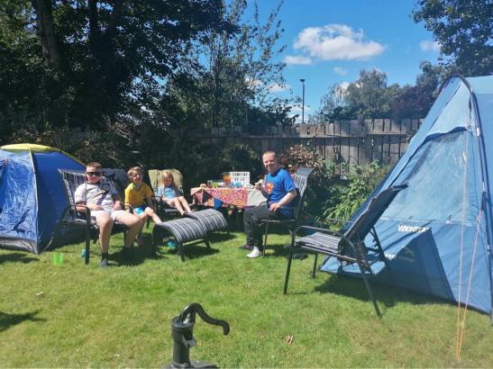 Sam camping 1